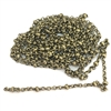 brass chain, antique brass chain, bead and link chain, 07928, B'sue Boutiques, bracelet chain, necklace chain, antique brass chain, nickel free, US made, vintage jewellery supplies, jewelry making,  beading supplies