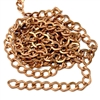 jewelry chain, figaro chain, 02535, copper coat, antique copper, B'sue Boutiques, nickel free, US made, brass jewelry supplies, vintage jewelry supplies, beading supplies, bracelet chain, necklace chain