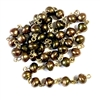 snail pearl chain, glass beads, Czech glass, baroque, chocolate, 10x6mm, 08912, vintage jewelry supplies, snail pearls, glass snail pearls, jewelry making supplies, beading supplies, glass pearlized beads, pearl chain