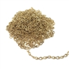 gold plated link chain, delicate, 09356, dainty chain, brass chain, link chain, teardrop links, nickel free, B'sue Boutiques, jewelry supplies, chain, gold plated