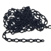 Figaro chain, delicate chain, curb chain, 09358, B'sue Boutiques, nickel free chain, US made, jewelry chain, vintage jewelry supplies, bracelet chain, necklace chain, jet black chain, twisted chain, antique black, matte black