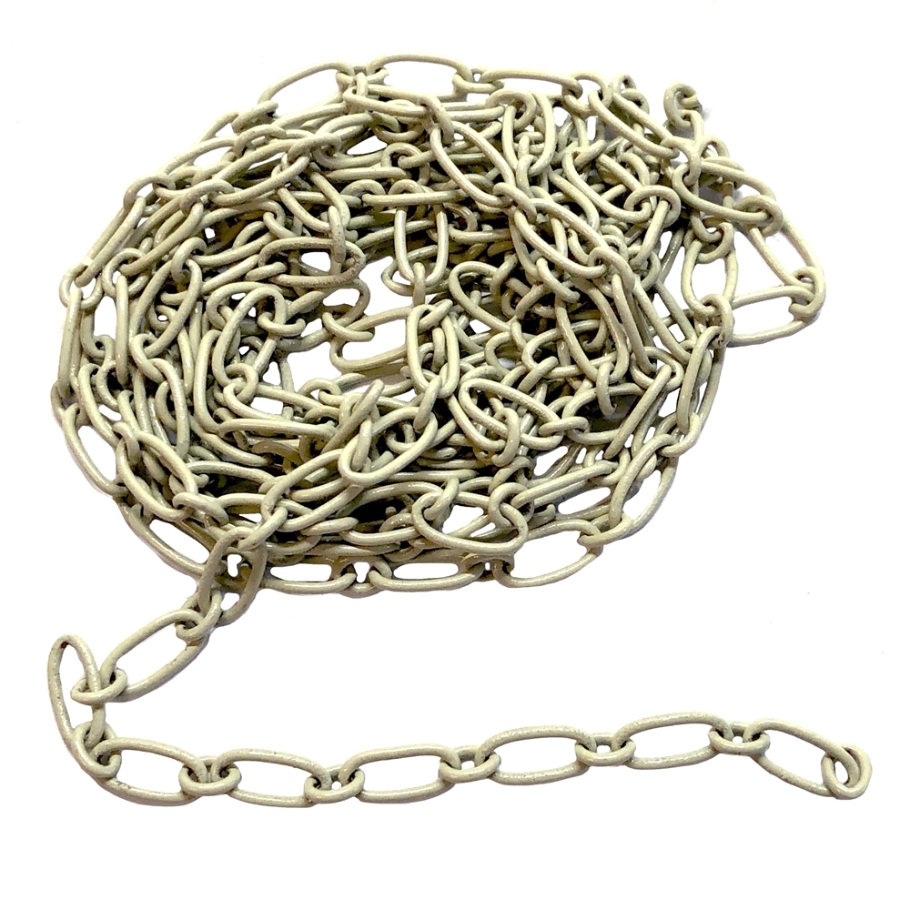 enamel coated cable chain, ivory enamel, 09394, cable chain, vintage jewelry supplies, jewelry making supplies, nickel free jewelry supplies, jewelry making supplies, bsueboutiques, jewelry chain