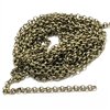 rolo chain, belcher chain, 2mm, antique brass, brass ox, 09532, jewelry chain, jewelry making supplies, vintage jewelry supplies, charm chain, bsueboutiques, nickel free, US made chain