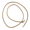 leather cord, necklace, chain, 09842, necklace with clasp, finished necklace, leather, cord necklace, tan, tan leather, sterling silver clasp, silver, B'sue Boutiques, jewelry making supplies, 18 inches