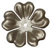 large brass flower, drilled, choxie, 09877, 5 petals, flowers, brass stamping, flower layer, rivet, large flower, 48mm, jewelry supplies, B'sue Boutiques, drilled flower, chocolate brass