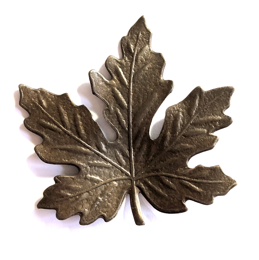brass leaves, maple leaves, choxie, 41mm, 09908, B'sue Boutiques, US Made, jewelry supplies, jewelry making, nickel free, vintage jewelry supplies, chocolate brass, B'sue Boutiques, leaf