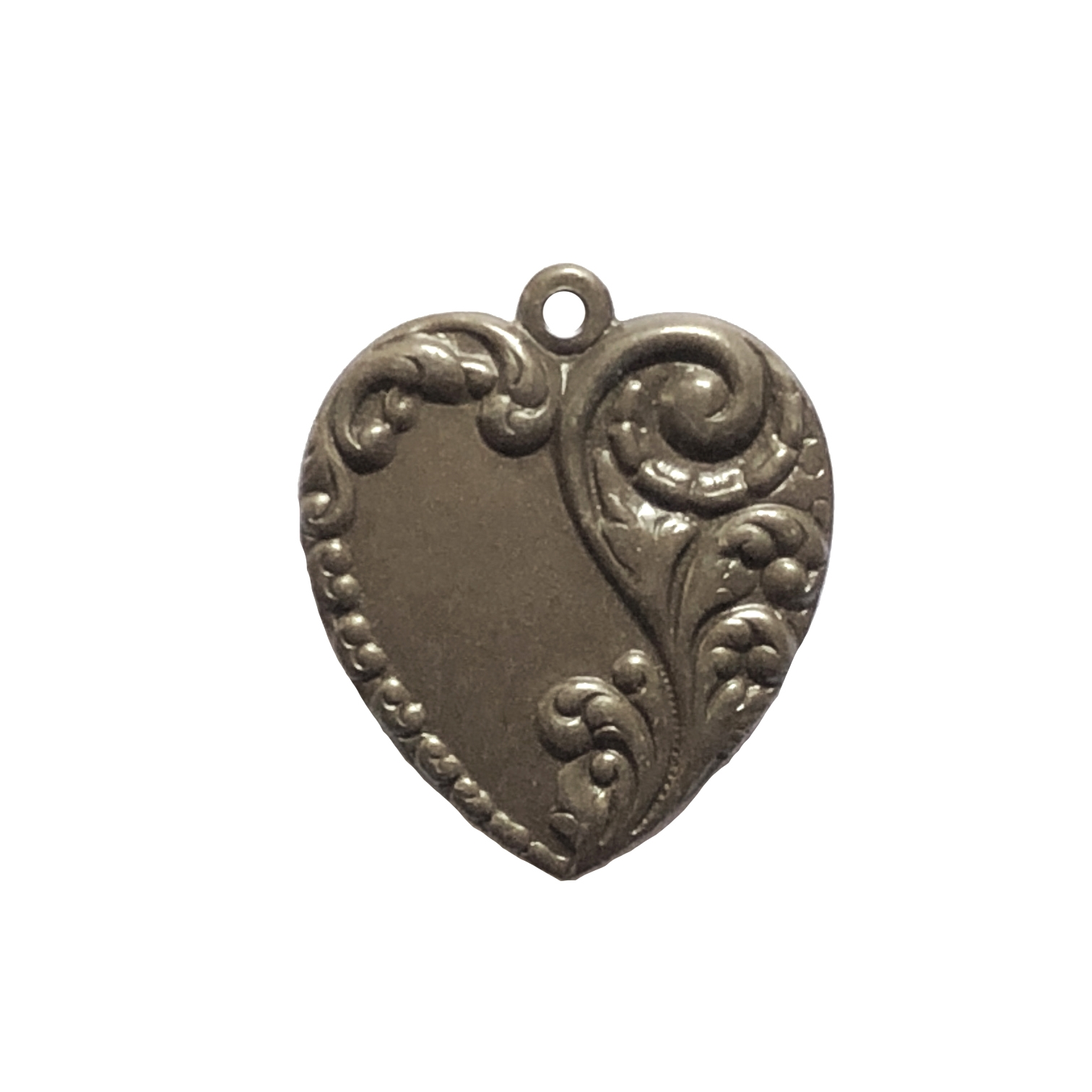 floral heart pendant, chocolate brass,  pendant, heart charm, heart, floral, floral heart, 28x24mm, victorian, choxie, us made, nickel free, B'sue Boutiques, jewelry making, jewelry supplies, jewelry findings, 09910