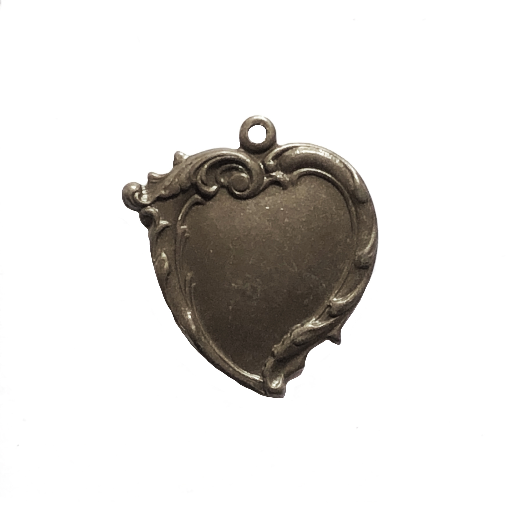 curved heart charm, heart stamping, stamping, 27x25mm, 09914, heart jewelry, heart charm, hearts, jewelry making, jewelry supplies, B'sue Boutiques, curved heart, vintage jewelry supplies