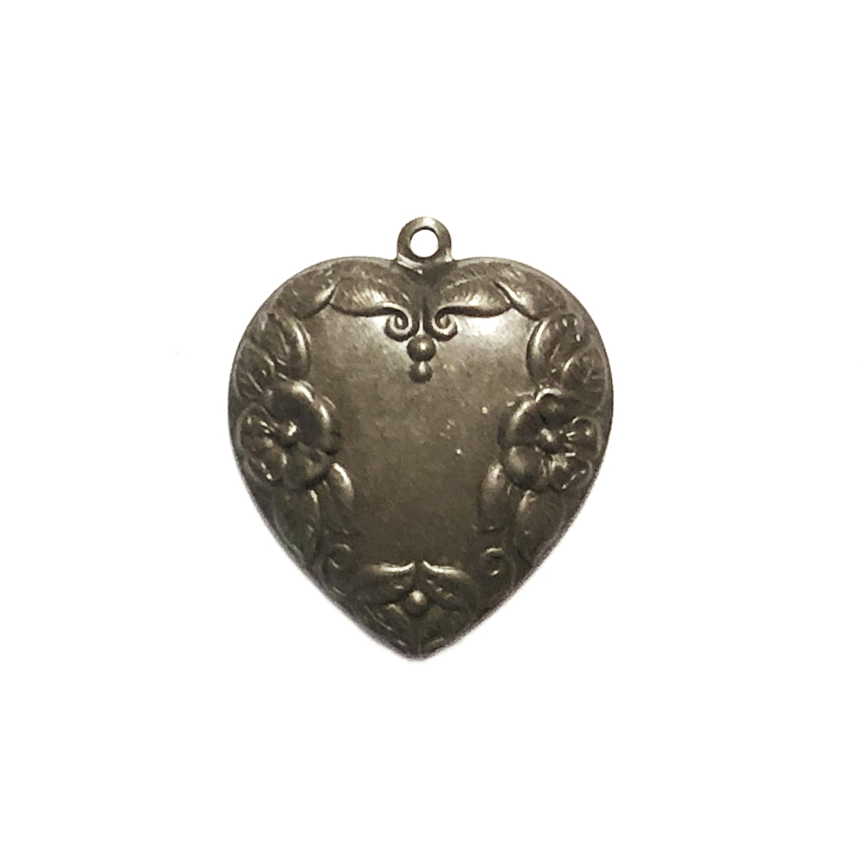 brass hearts, heart charms, chocolate brass, 09922, 22mm, jewelry making supplies, US made, nickel free, bsueboutiques, jewelry charms, heart stampings, vintage jewelry supplies