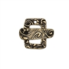 floral toggle clasp, antique bronze, pewter clasp, brass oxide finish, jewelry making, clasp jewelry, jewelry supplies, vintage supplies, B'sue Boutiques, jewelry findings, jewelry clasp, 20x15mm, 0114, rectangular shape, rectangular clasp