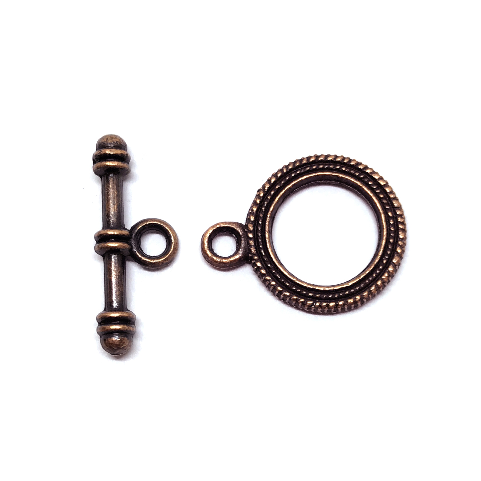 toggle clasp, antique copper, clasps, 01544, jewelry clasps, jewelry making supplies, jewelry parts, vintage jewelry supplies, US made jewelry supplies, nickel free jewelry supplies,  22mm toggle, bracelet toggle, necklace toggles
