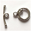 clasp toggle renaissance, silver plated, toggle, clasp, jewelry clasps, silver, B'sue Boutiques, nickel free, us made, vintage supplies, jewelry making, brass jewelry parts, brass toggles, toggles, beading supplies, 27x17mm, silver plated clasp, 02097