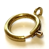 spring rings, jewelry clasps, raw brass, 02103, jewelry making supplies, bracelet clasps, necklace clasps, antique brass, vintage jewelry supplies, 18mm clasp