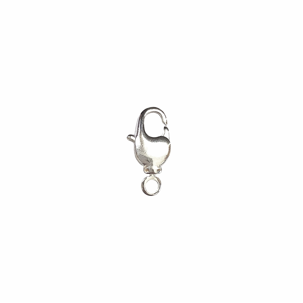 lobster claw clasp, swivel design, clasp, silver-plated, silver, claw clasp, claw, lobster claw, lobster clasp, clasp findings, swivel, US-made, nickel-free, B'sue Boutiques, silver clasp, brass, jewelry findings, jewelry making, jewelry supplies, 02323