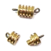 raw patina brass, clasp, ribbed, 02396, screw style clasp, screw type clasp, brass clasp, patina brass, findings, jewelry making, jewelry supplies, Bsue Boutiques, screw