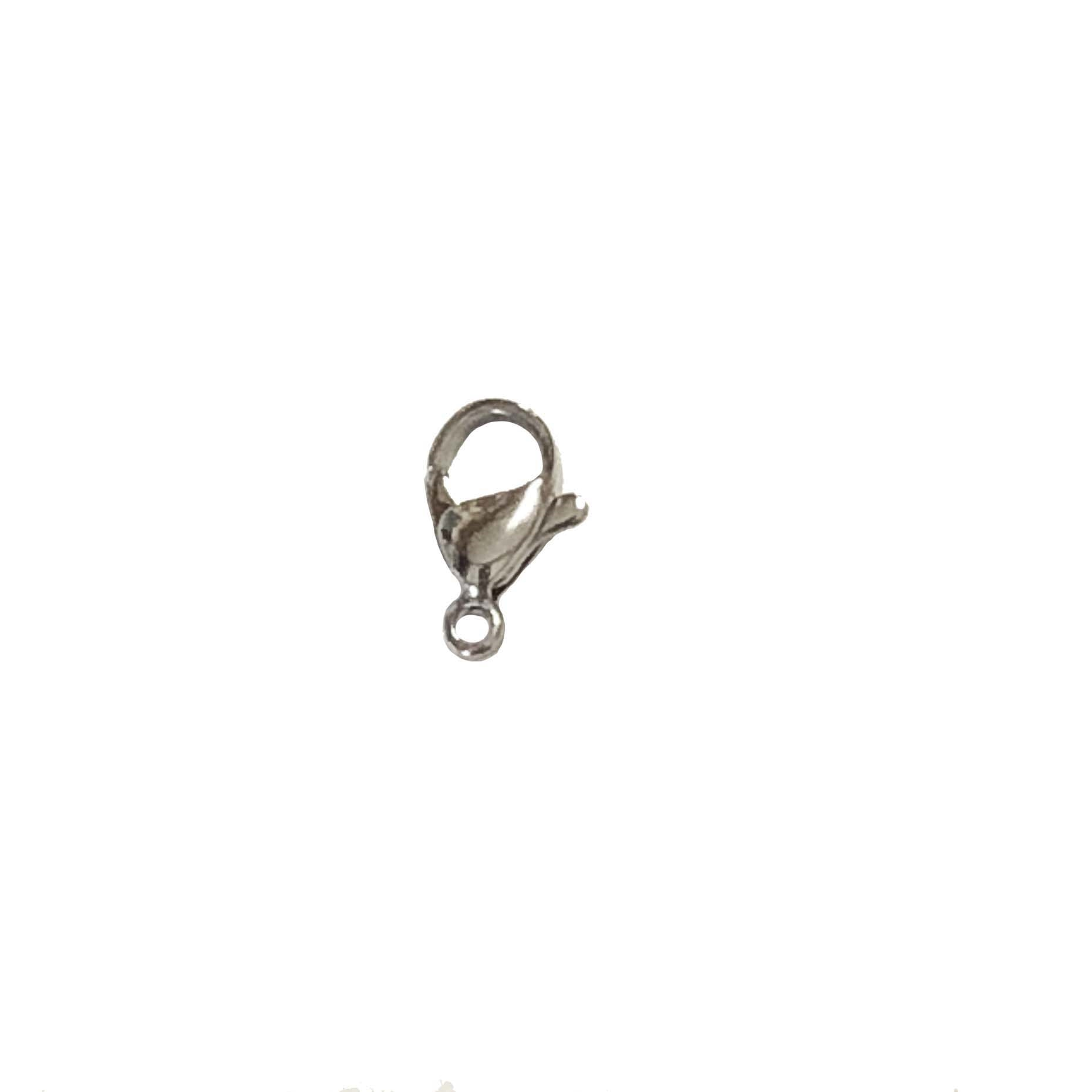 lobster claw clasp, stainless trigger clasp, 030, silvertone, jewelry supplies, clasp, clasps, silver, B'sue Boutiques, jewelry making, findings, jewelry parts