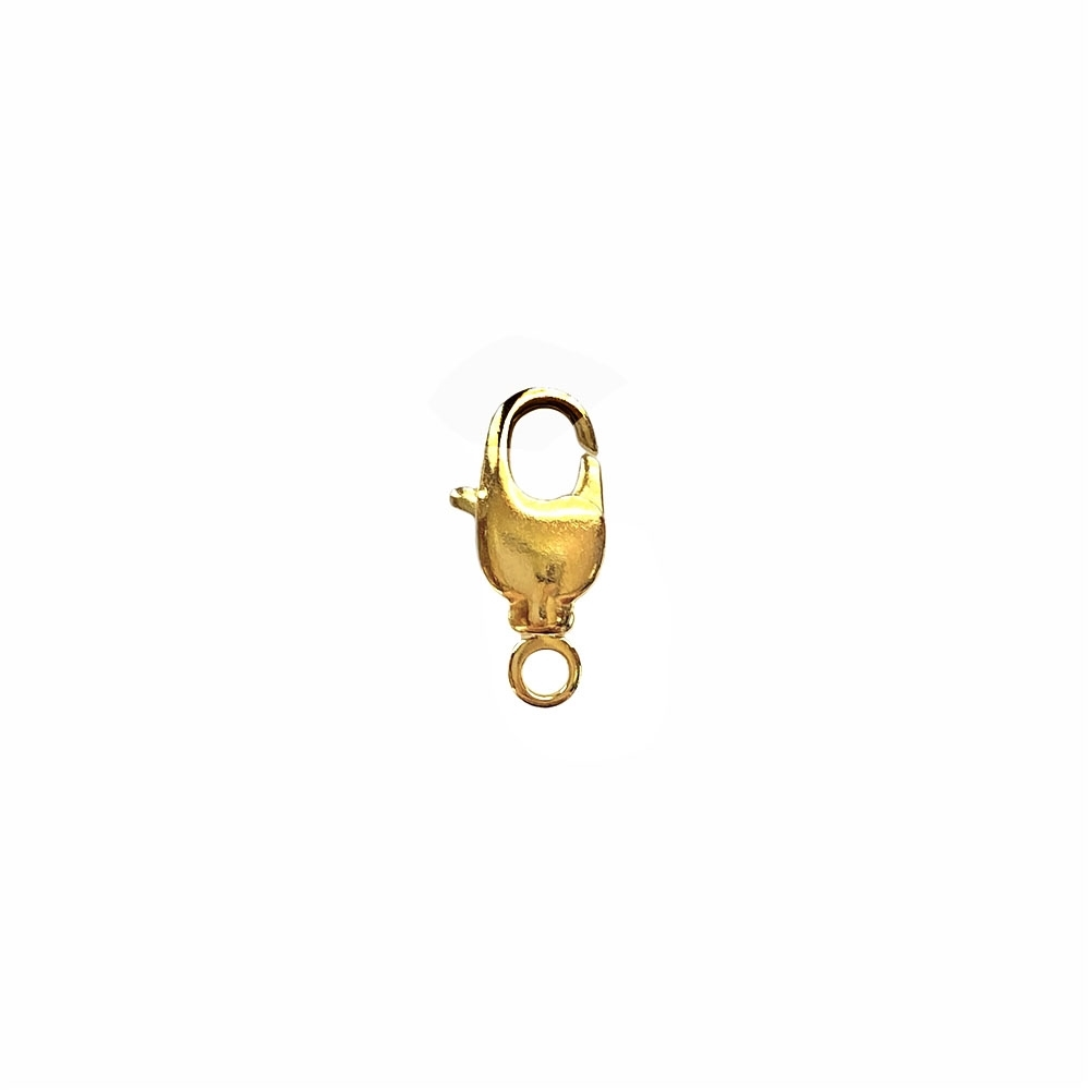 lobster claw clasp, swivel design, clasp, gold plated, gold, claw clasp, claw, lobster claw, lobster clasp, clasp findings, swivel, us made, nickel free, B'sue Boutiques, gold clasp, brass, jewelry findings, jewelry making, jewelry supplies, 05305