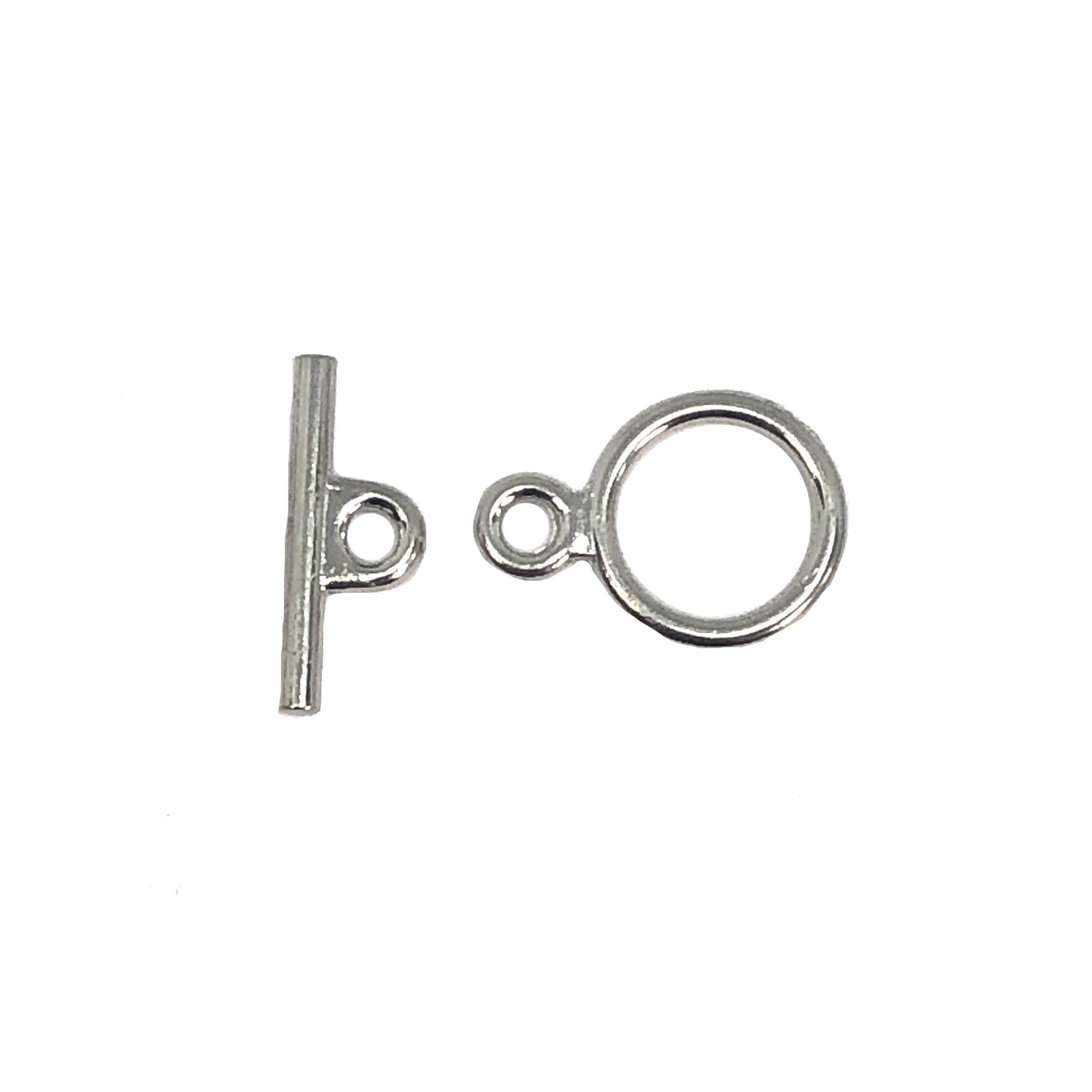 Toggle Clasp, Antique Silver, 16mm Loop, 12mm Bar