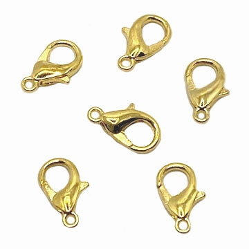 lobster claw clasp, goldtone, 09159, jewelry supplies, clasp, clasps, gold, B'sue Boutiques, jewelry making, findings, jewelry parts