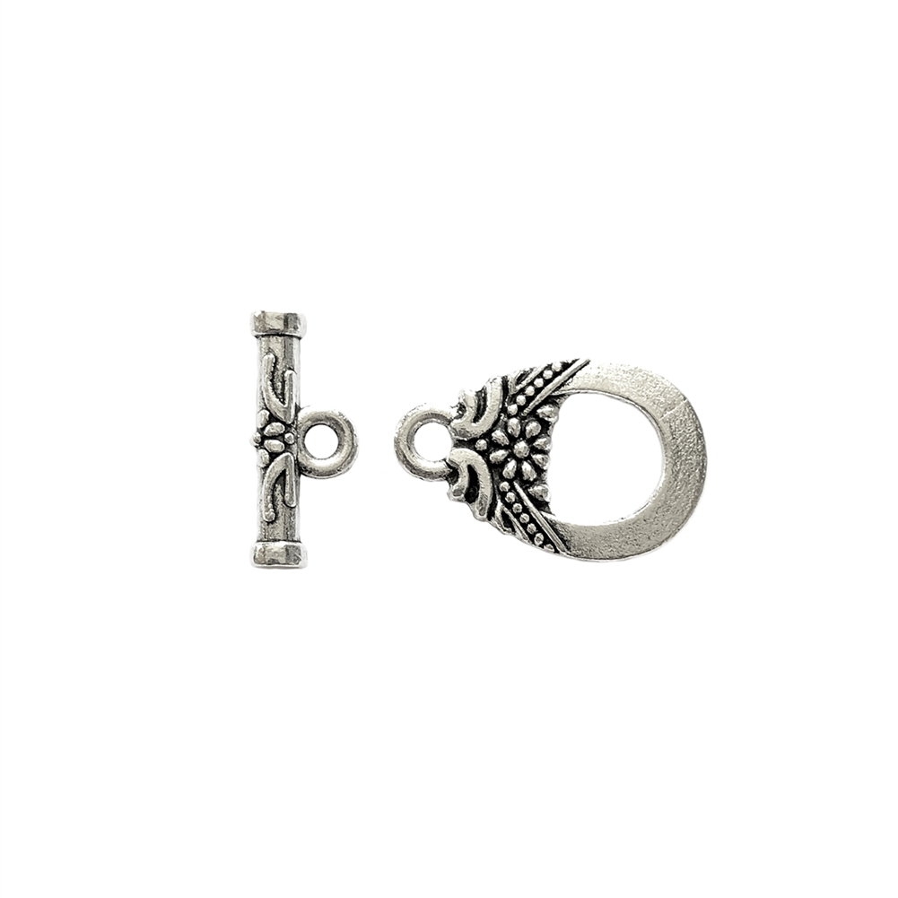 tibetan style alloy toggle clasp, antique silver, tibetan style, clasp, silver clasp, 18x11mm, jewelry making, jewelry supplies, vintage supplies, B'sue Boutiques, clasp jewelry, Tibetan, alloy clasp, toggle clasp, jewelry findings, silver, 09586