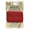 crimson waxed Brazilian cord, knotting twine, craft cord, waxed cord, crimson cord, waxed cord, 15 yards, jewelry cord, 13.7 meters, jewelry making, vintage supplies, jewelry supplies, B'sue Boutiques, jewelry waxed cord, red, 02448