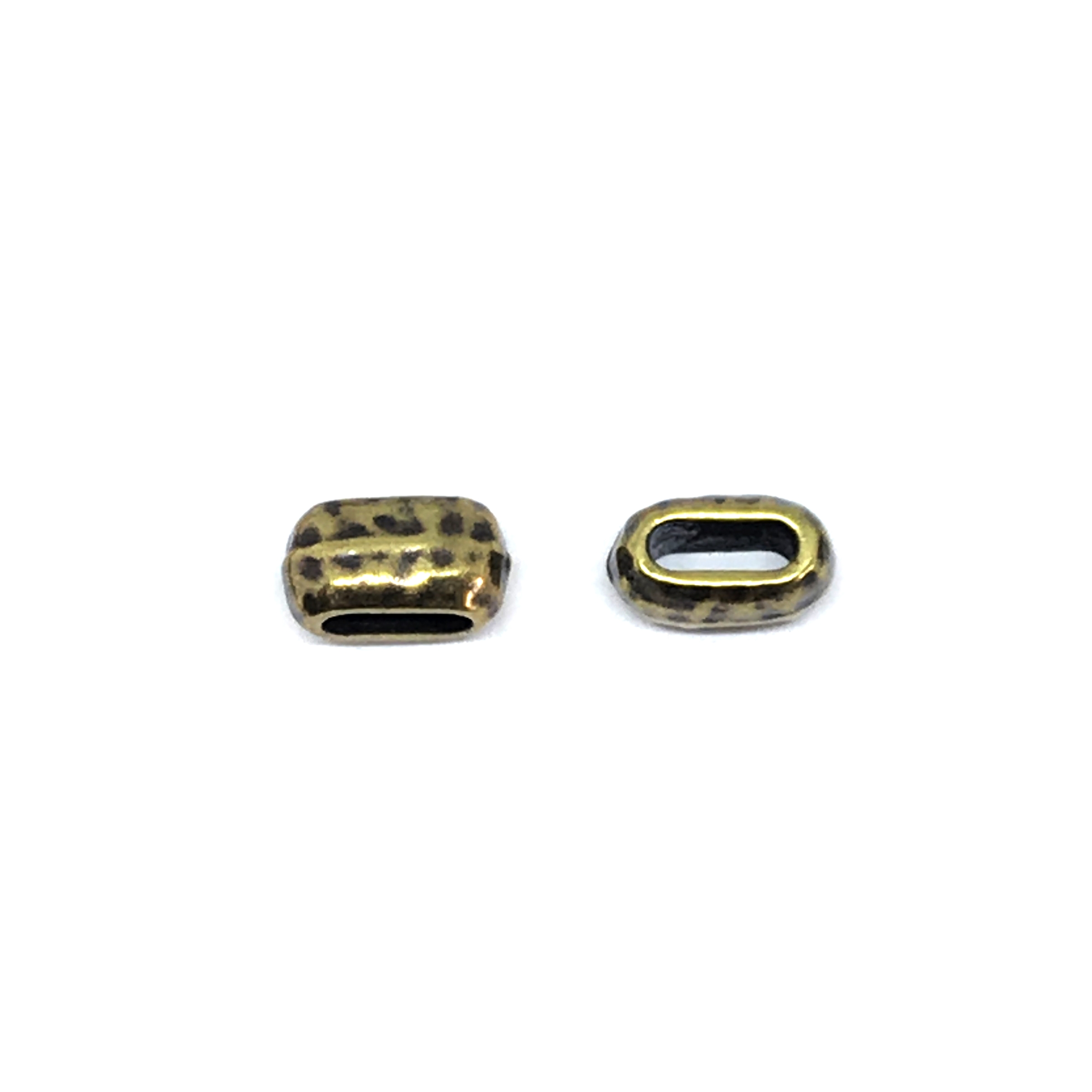 crimp end, cord end, connector, 01170, cordend, 6x10mm, brass ox, pewter base, brass plated antique finish, crimps, 2mm hole