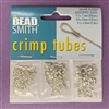 crimp tubes, tube beads, silver plated, 04179, assorted crimp beads, crimps, silver, 3 sizes, 475 pieces, B'sue Boutiques, jewelry supplies, findings, connectors, jewelry making