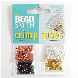 crimp tubes, tube beads, jewelry making, asst