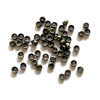 crimp beads, beading supplies, black oxide crimps, 07683, B'sue Boutiques, nickel free jewelry, US made jewelry, bead finding, jewelry finding, vintage jewellery supplies, jewelry making supplies, antique black crimp beads