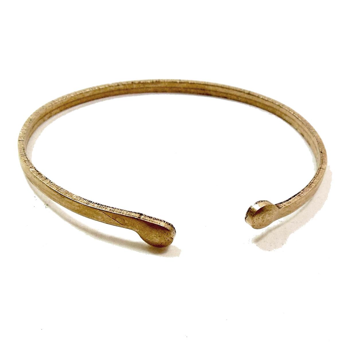 wire cuff, cuff bracelet, charms, chocolate, 07448, brass ox,brown ...