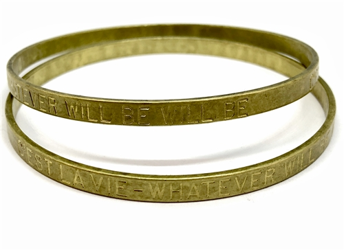 Vintage Cuff Base, C'EST LA VIE, WHATEVER WILL BE WILL BE, Patina brass, vintage jewelry supplies, brass findings, brass cuffs, US made, nickel free jewelry supplies, Bsue Boutiques, vintage cuffs, 05394
