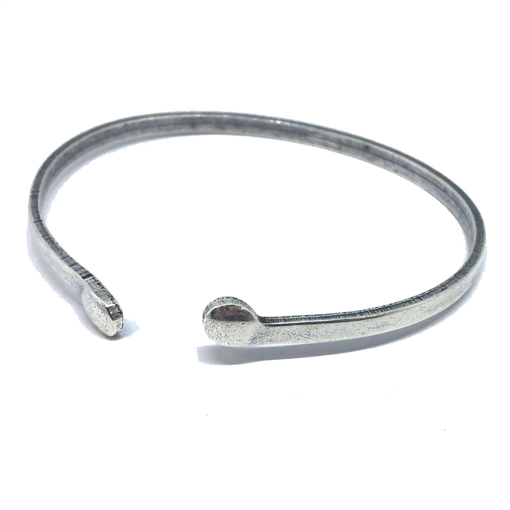bangle, fine silver, 06700, silver bangle, bracelet, silver, cuff, silver cuff, skinny cuff, Bsue Boutiques, jewelry supplies, wiring, nickel free, wrapped bangle base, cuff base