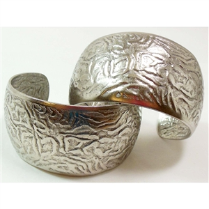 Brass Cuff, Dimpled Style, Pewter Ox, Nickel Free Finish, US Made, 1.5 Inches Wide