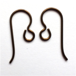 ear wires, niobium ear wires, copper, 0177, ear ring findings, vintage jewelry supplies, US made, nickel free jewelry supplies,