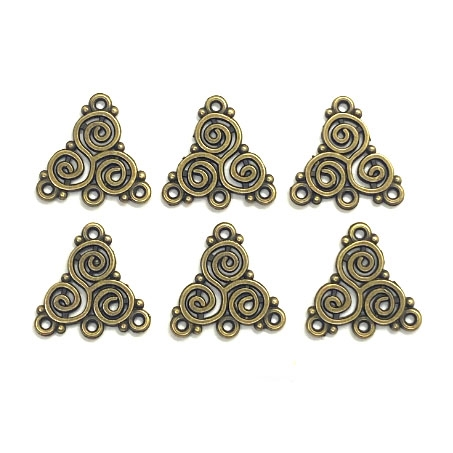 Coiled Ear Drops, Antique Bronze, 03938, Steampunk style, coiled design, bronze ear drops, earrings, gypsy earrings, chandelier earrings, jewelry supplies, B'sue Boutiques, ear drops, jewelry making, earring base