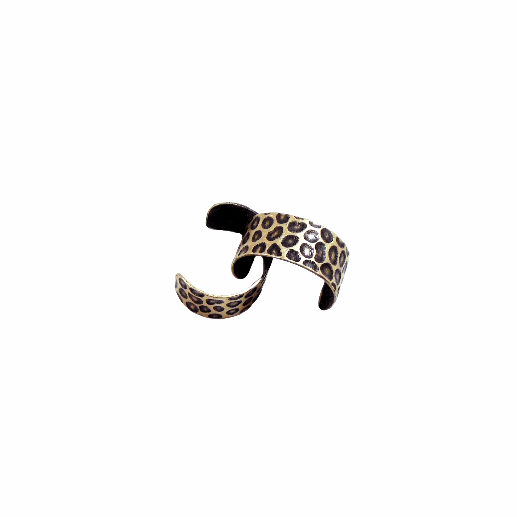 brass ox, ear cuff, earring, 06755, modern, leopard, 7mm, earrings, cuff, antique brass, antiqued, jewelry supplies, jewelry making, Bsue boutiques