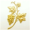 brass leaves, grape vines, jewelry supplies