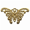 brass butterflies, jewelry making, raw brass, 4 in