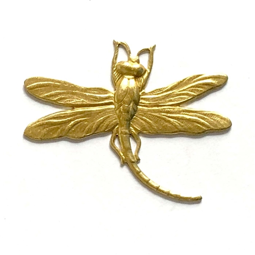 brass dragonflies, dragonfly jewelry,antique brass, 01148, jewelry making supplies, vintage jewelry supplies, bug stampings, raw brass, US made jewelry supplies, nickel free jewelry supplies, curved tail dragonfly