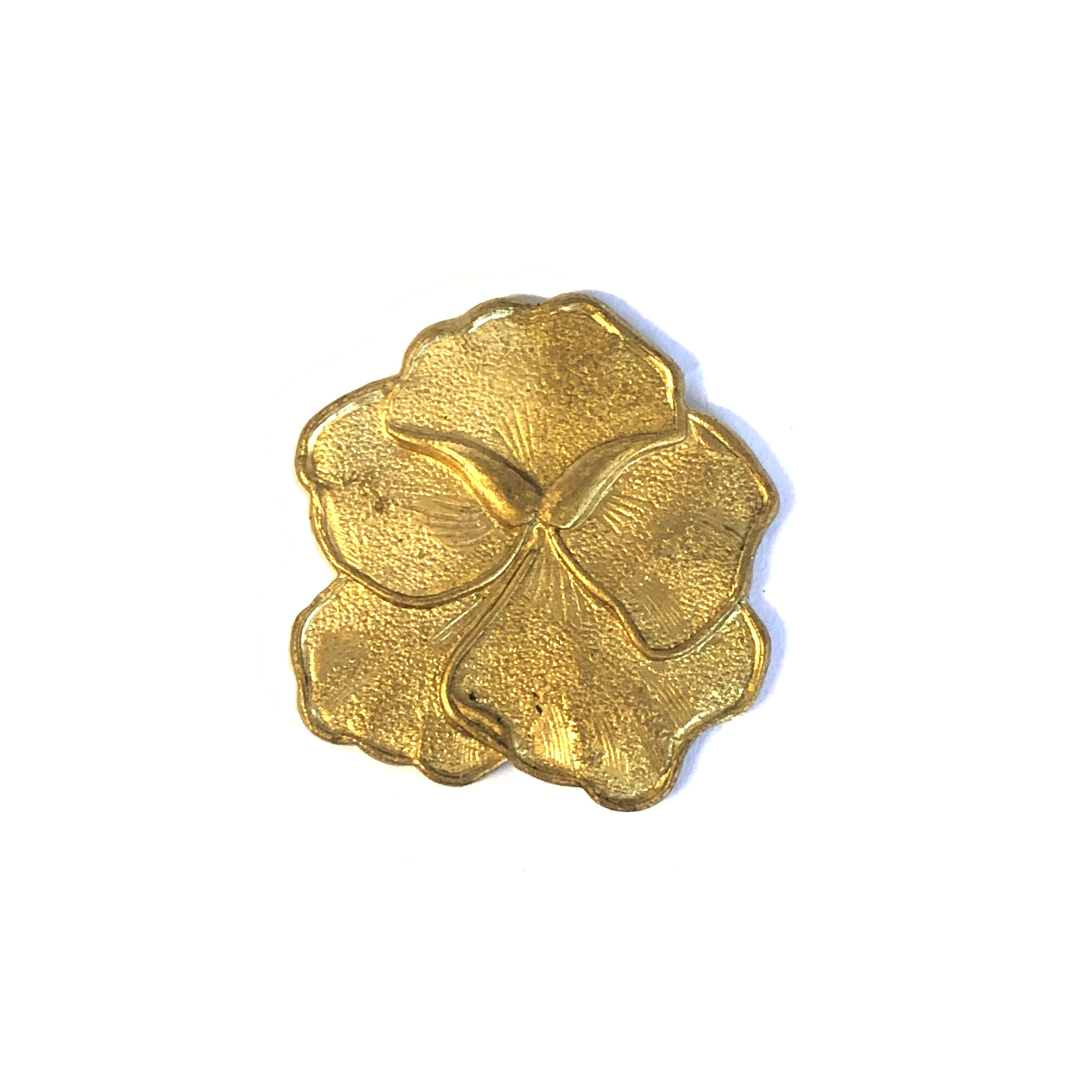Brass Pansy Stamping, Flower, Raw Brass, 01302, floral, brass flowers, US made, nickel free, jewelry findings, B'sue Boutiques, pansy, embellishment