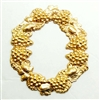 brass wreaths, grapevine stampings, raw brass