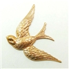 brass birds, bird jewelry, jewelry supplies, 01321,raw brass, antique brass, jewelry making, B'sue Boutiques, US Made, nickel free, bird jewelry, brass stampings, flying birds,