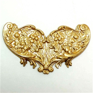 brass stampings, floral stampings, jewelry making