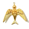 brass birds, bird pendants, jewelry supplies