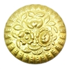 brass stampings, floral Medallion, jewelry making
