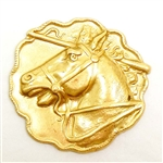 brass horse, horse racing, jewelry making