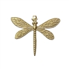 dragonfly pendant, raw brass, unplated brass, dragonfly, pendant, brass pendant, US made, nickel free, 40x41mm, bug charm, jewelry making, dragonfly jewelry, vintage supplies, jewelry supplies, jewelry findings, brass stamping, B'sue Boutiques, 02792