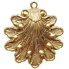 brass shells, shell pendants, jewelry making