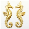 brass seahorses, beach jewelry, jewelry making