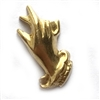 Gloved Hand, Brass Stampings, Jewelry Supplies, Raw Brass, 17 x 9mm